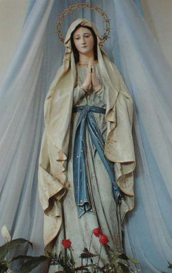 "allaboutmary: "" A statue of Mary at the shrine of Medjugorje, Bosnia and Herzegovina. """