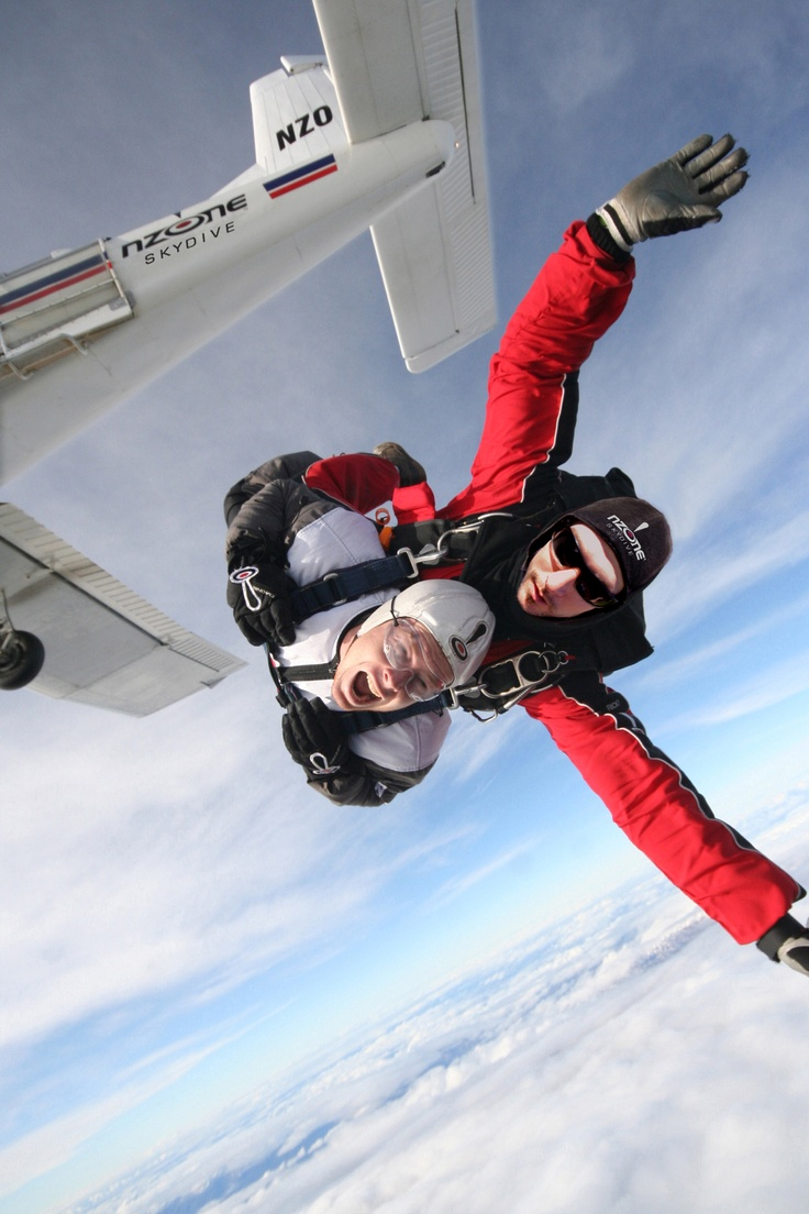 Jumping out of a plane at 15,000ft