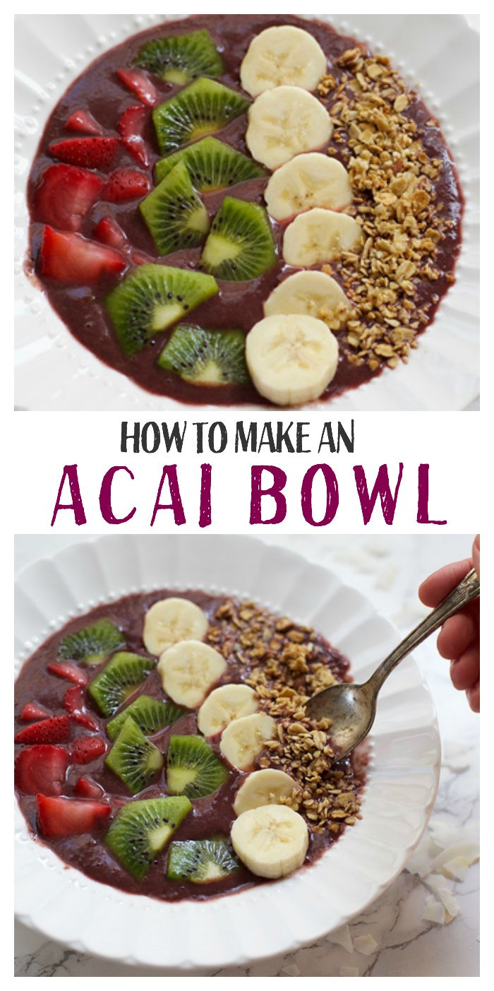 How to Make an Acai Bowl - They're SO easy to make at home! (Paleo & Vegan(