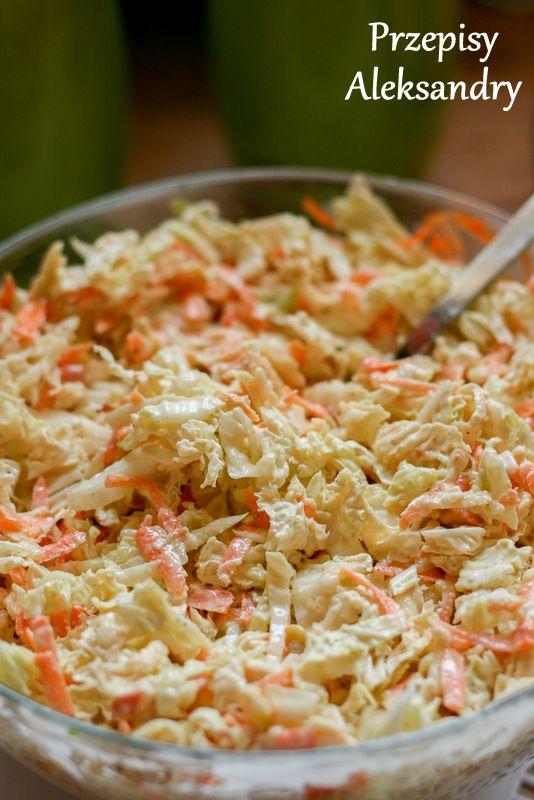Chinese cabbage, cucumber and horseradish dressing slaw / surówka z kapusty pekińskiej, ogórka i dressingu chrzanowego