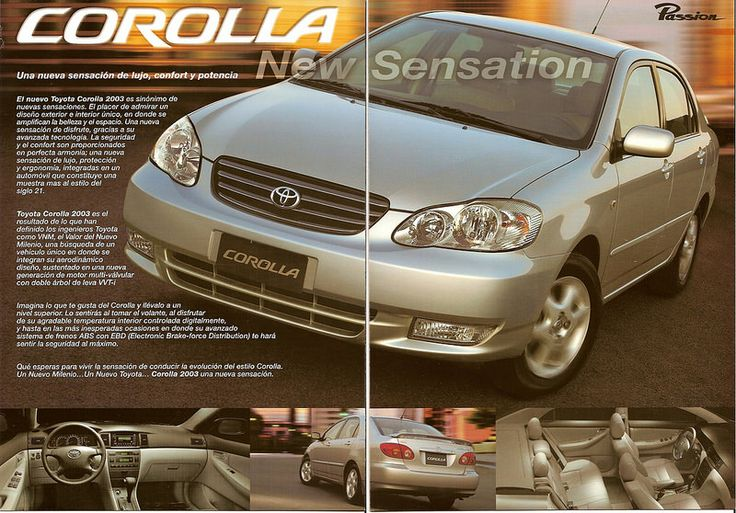 Brochure toyota corolla 2003 toyota and vehicle sciox Choice Image