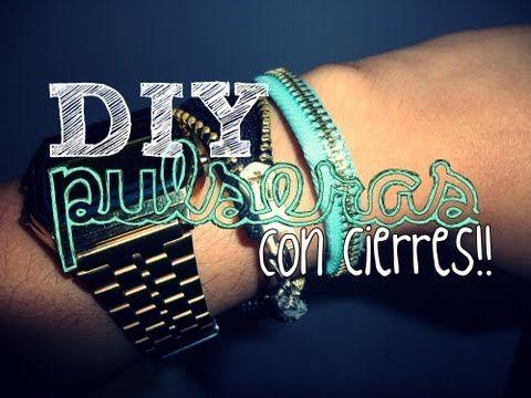 DIY ♥ Pulseras con Cierres!!