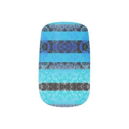 bleu minx nail art - chic design idea diy elegant beautiful stylish modern exclusive trendy