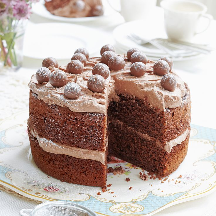 The queen of baking has done it again with this Mary Berry malted chocolate cake