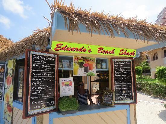 best smoothie bar in Aruba Eduardos Beach Shack palm beach Aruba