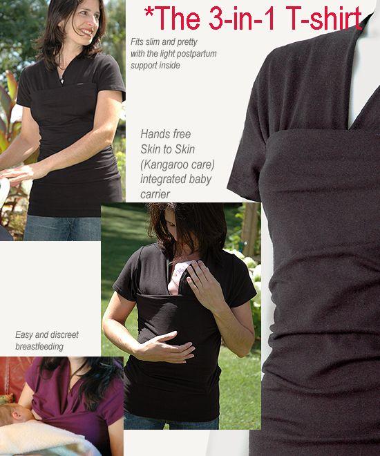 Long sleeves Skin-to-skin kangaroo t-shirt