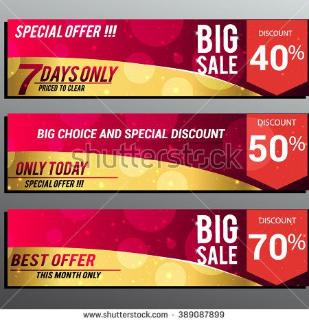 Big sale banner. Sale background. Big sale voucher. Big sale coupon. Sale and discounts poster. Sale vector Vector illustration. - stock vector