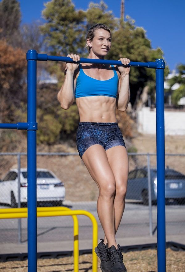 'Ninja Warrior' Pull-Up Workout  Stuntwoman Jessie Graff used this crushing back and arm workout to help her make the finals.