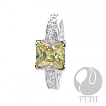 First Impressions - Ring    - 0.5 micron natural rhodium plating  - Set with AAA white cubic zirconia and gold cubic zirconia https://www.globalwealthtrade.com/vdm/display_item.php?referral=stephjames&category=66&item=5492&cntylng=&page=1