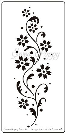 Sweet Poppy Stencil: Flower Border