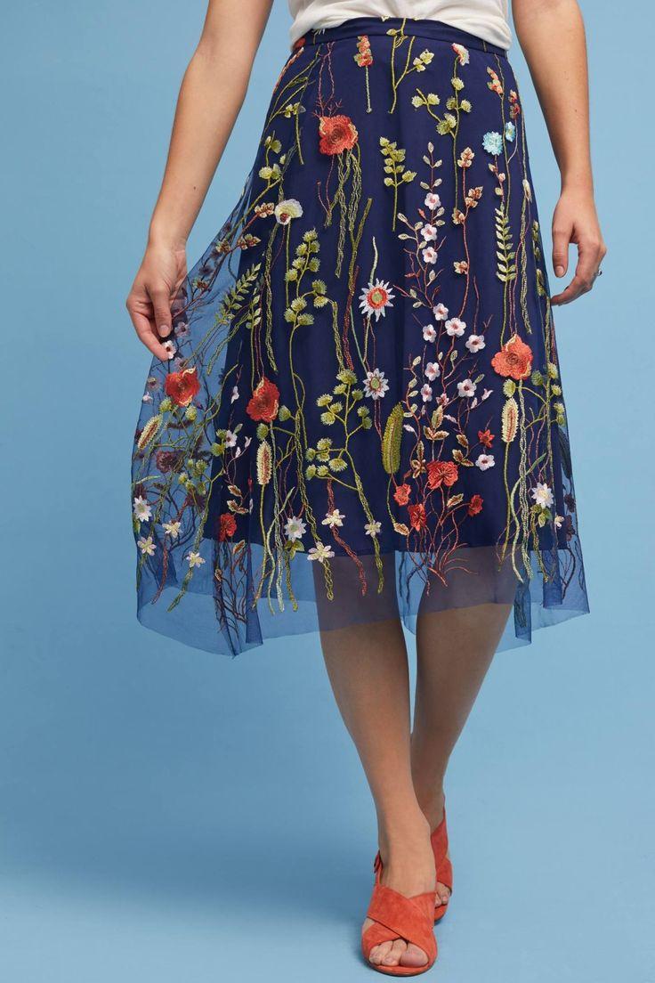 Anthropologie Waverly Garden Skirt
