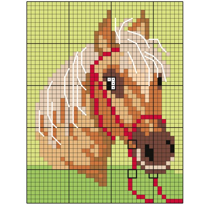 Pixel Art Cheval Facile A Faire