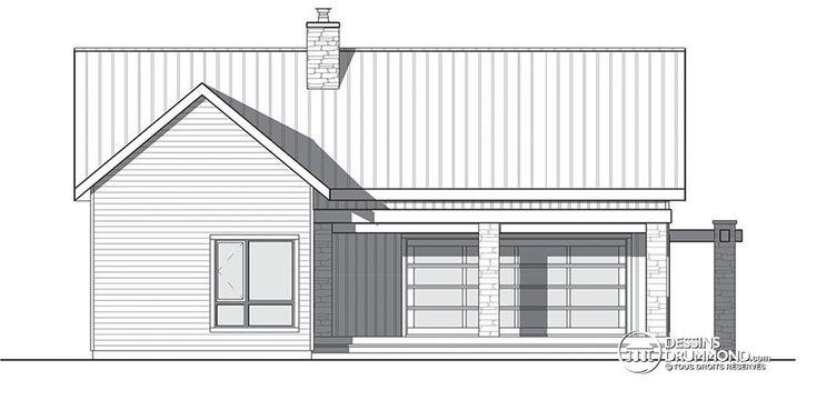Détail du plan de Maison unifamiliale W3992