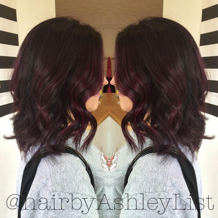 Gorgeous, rich violet brunette. Joico lumishine 4VV with 20 volume developer