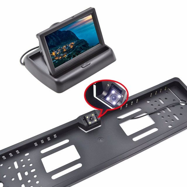 """4.3"""" TFT LCD Car Monitor Parking Assistance RU European License Plate Frame Rear View Camera Car Display monitor for auto"""