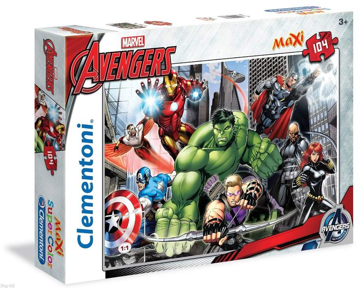 Marvel Avengers 104 Piece Jigsaw Puzzle Maxi Super Color Age 3+ New in |  eBay