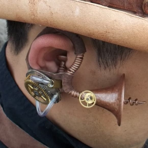 Coswig listening device for spies. Steampunk.