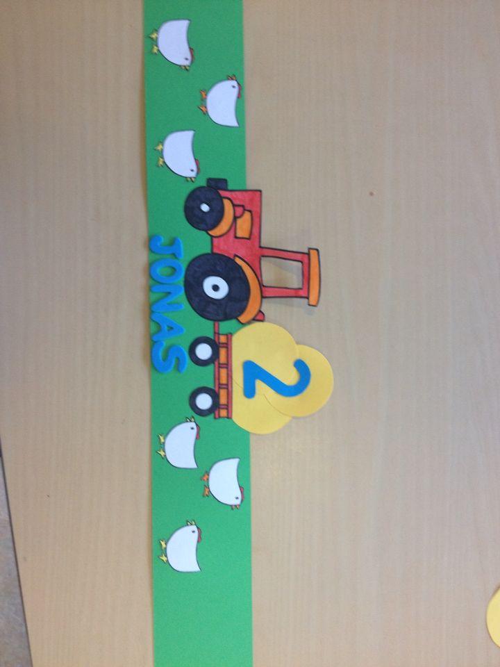 Tractor verjaardagskroon