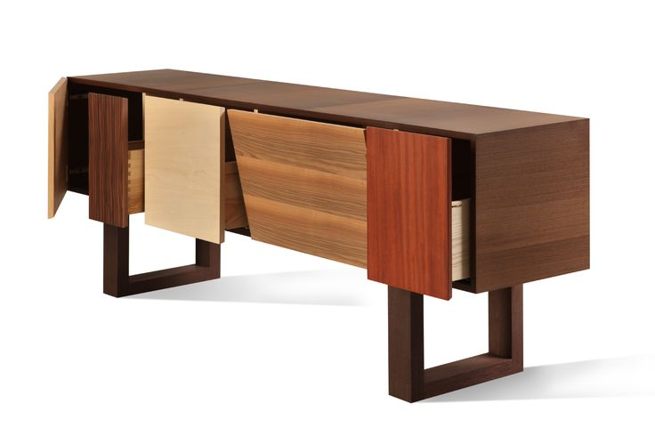 BIG JOHN, sideboard made of wengè with patchwork doors and drawers