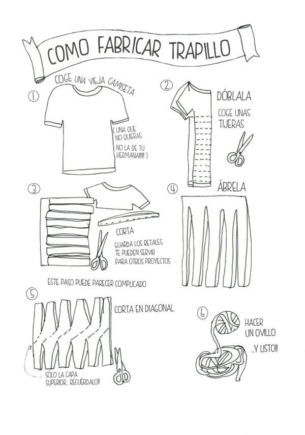 Patrones Trapillo: Cómo fabricar trapillo
