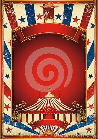 circo de blanco | Fondo Agradable Del Circo De La Vendimia Con La Tapa Grande Foto de ...