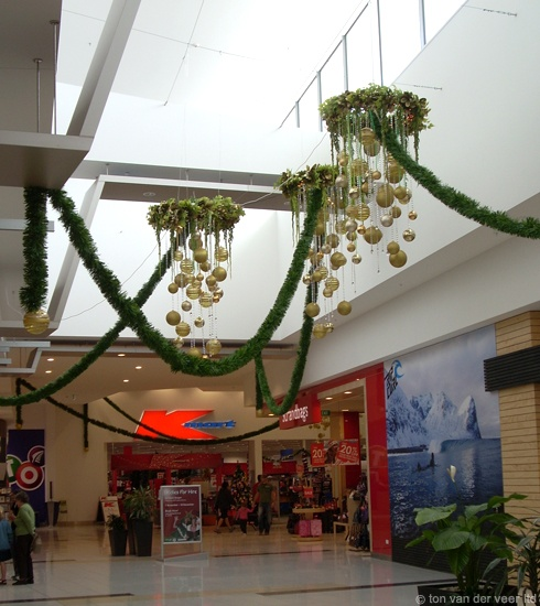 malls at christmas by Ton van der Veer