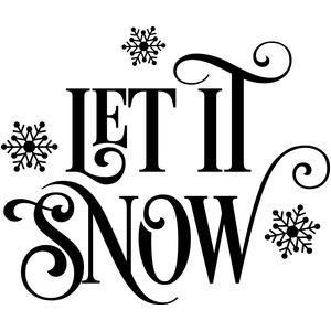 Silhouette Design Store - View Design #109306: let it snow