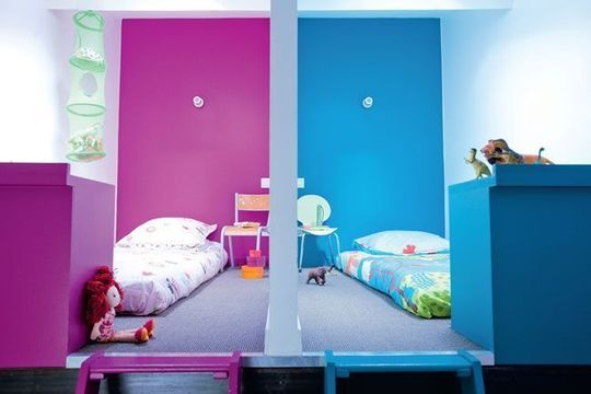 Les chambres des enfants comme des cabanes
