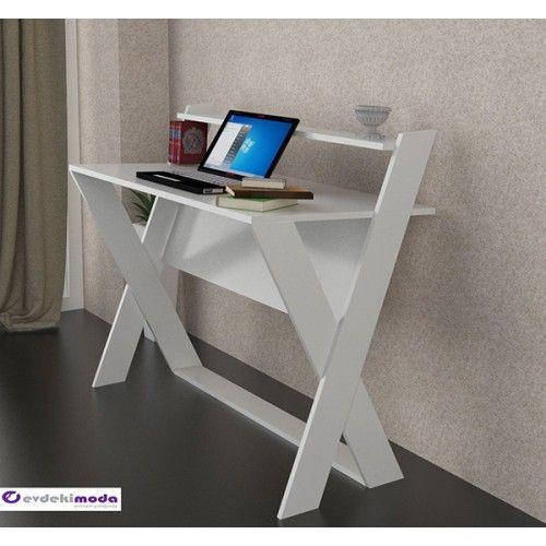 Xmen Çalışma Masası Beyaz Beyaz
