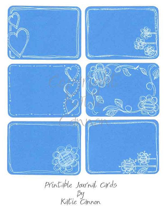This listing is for one sheet of 6 Painted Printable 3x4 Journal Filler Cards for Project Life. This is a PNG and a PDF file that is created
