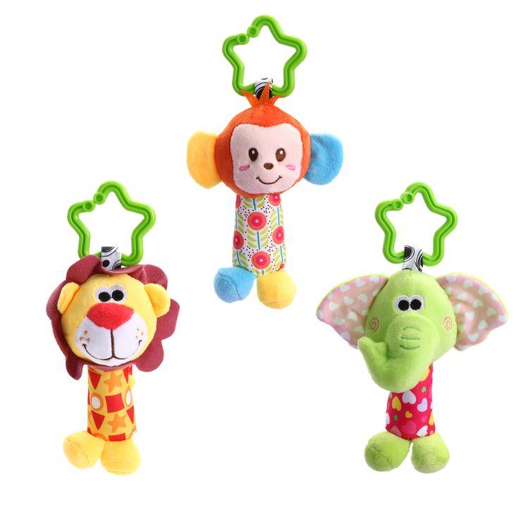 Newborn Baby Infant Cute Animal Handbells Baby Rattle Developmental Bed Bells Toys Stroller Bed Hanging Toy Gift