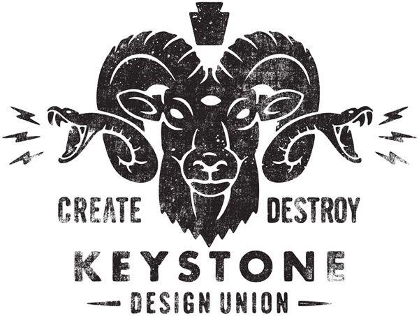 CREATE - - - DESTROY #logo #animal #identity #design
