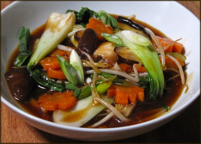Vegetables in Chinese Brown Sauce - Just like the Takeaway! | A Glug of Oil