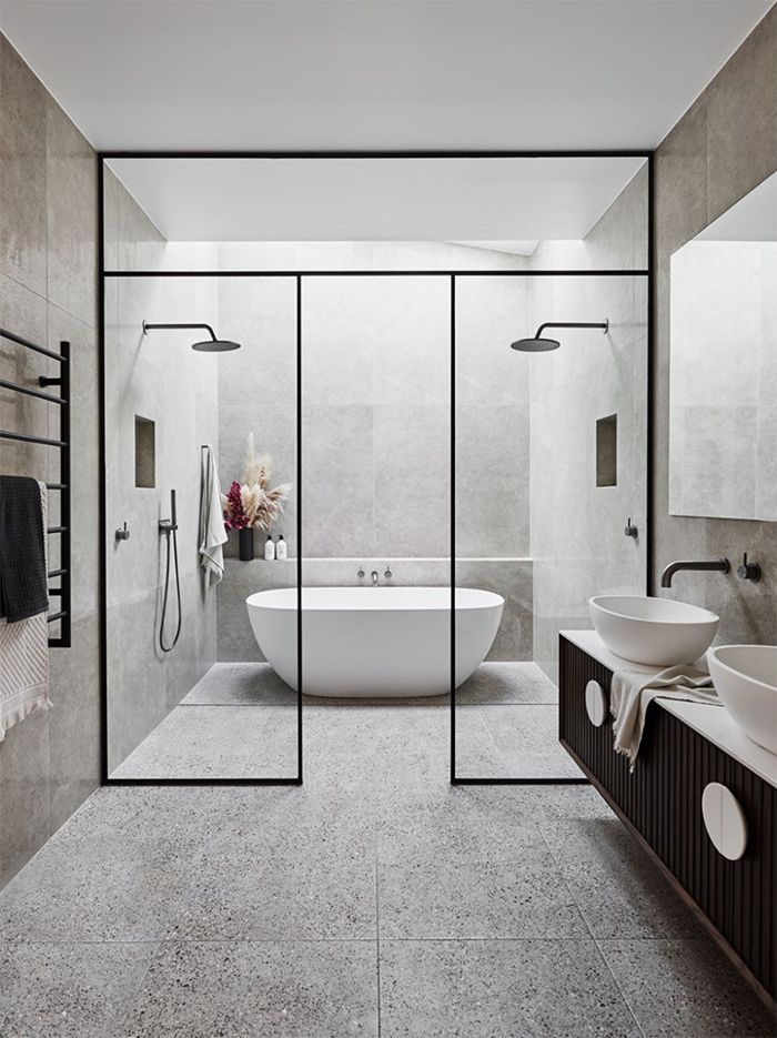 Spaces The New Modern Small Bathrooms Master Bathroom Design Large Bathrooms
