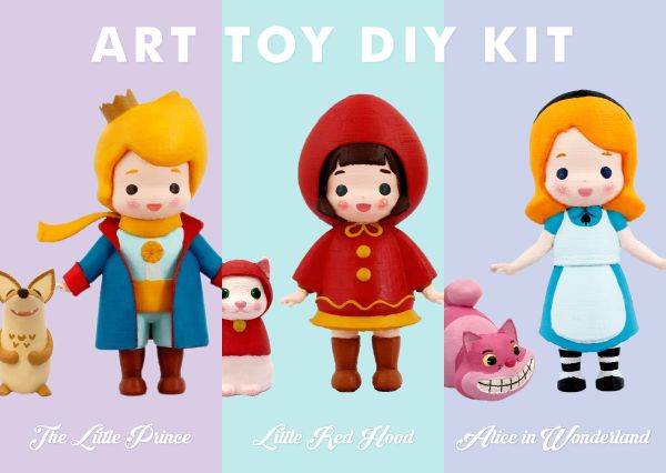 We like both to make thing with my hands and to view craft works a lot. How adorable Radon Arttoys are there <3 #Arttoy #3Dprinting #DIY #Coloring #3D #project #littleprince #RADON #Hobby #Alice #Redhood #cute #color #Redcap #littlefox #twenties #girl #boy #girls