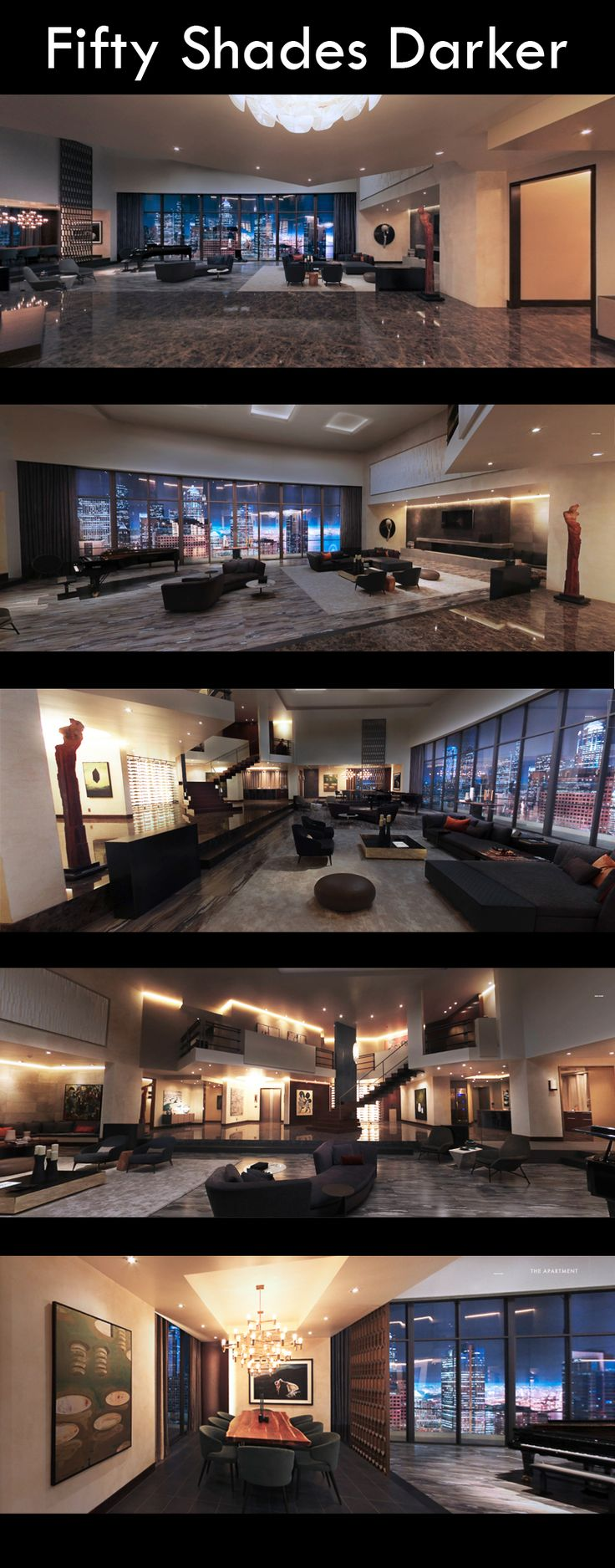 Christian Grey's penthouse apartment in Fifty Shades Darker (2017).