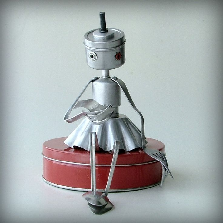 The Love Letter ( robot recycled art sculpture ) | Donna Provo Leuck