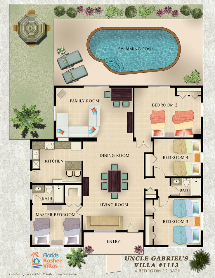 11 best images about vacation rental marketing floor plans for Rental property floor plans