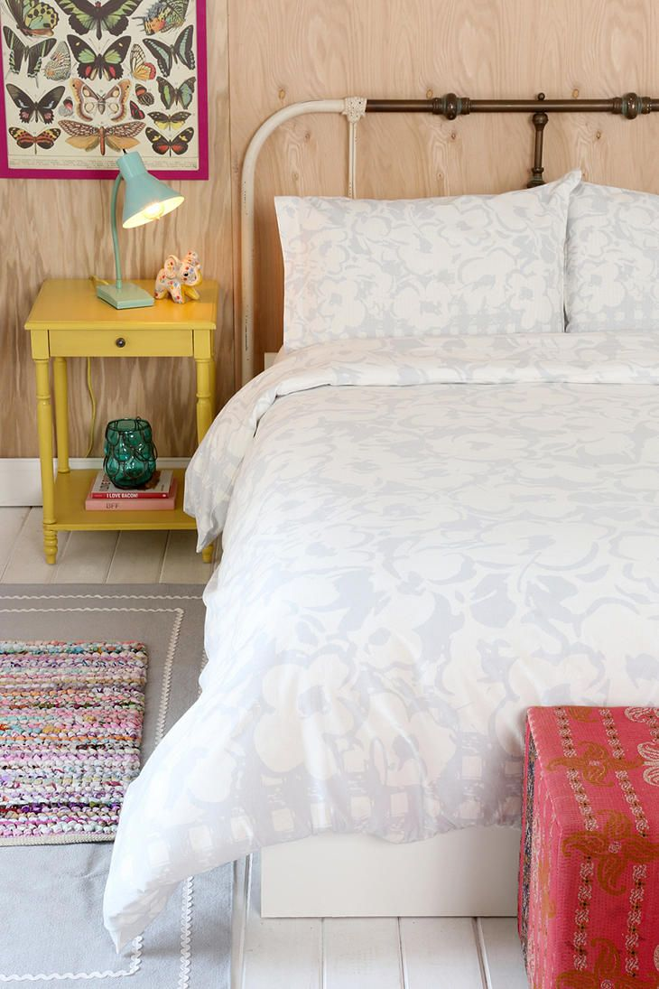Plum & Bow Gingham Floral Duvet Cover #urbanoutfitters