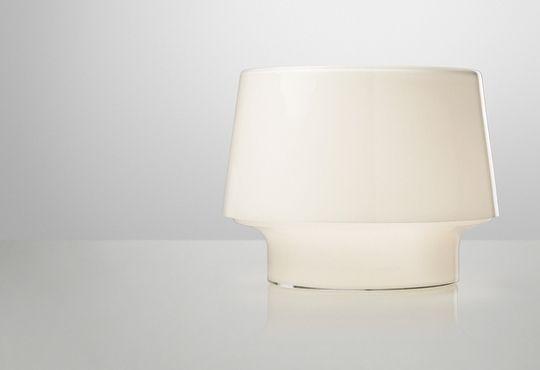 Design table lamp (blown glass) - COSY IN WHITE by Harri Koskinen - Muuto