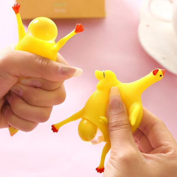 Смешной вентиляционный творческие игрушки цыпленка несушек под пониженным давлением выдавить Tricky смешной пародии несушек маленьких игрушки
