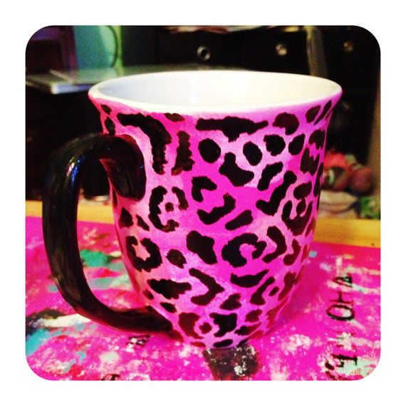 Pink leopard coffee cup