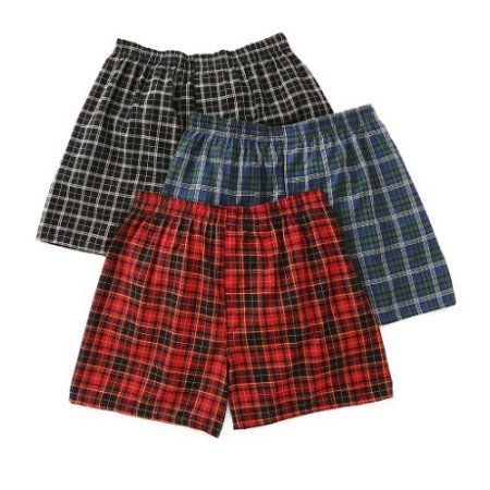 Fruit of the Loom Men's Tartan Boxer (3-Pack), Size: Medium, Multicolor