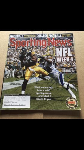 The Sporting News Hines Ward Pittsburgh Steelers #86 WR NFL Pro Bowl HOF Champ