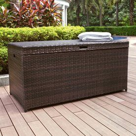 Crosley Furniture Palm Harbor 52-in L x 25-in W Brown Resin Deck Box