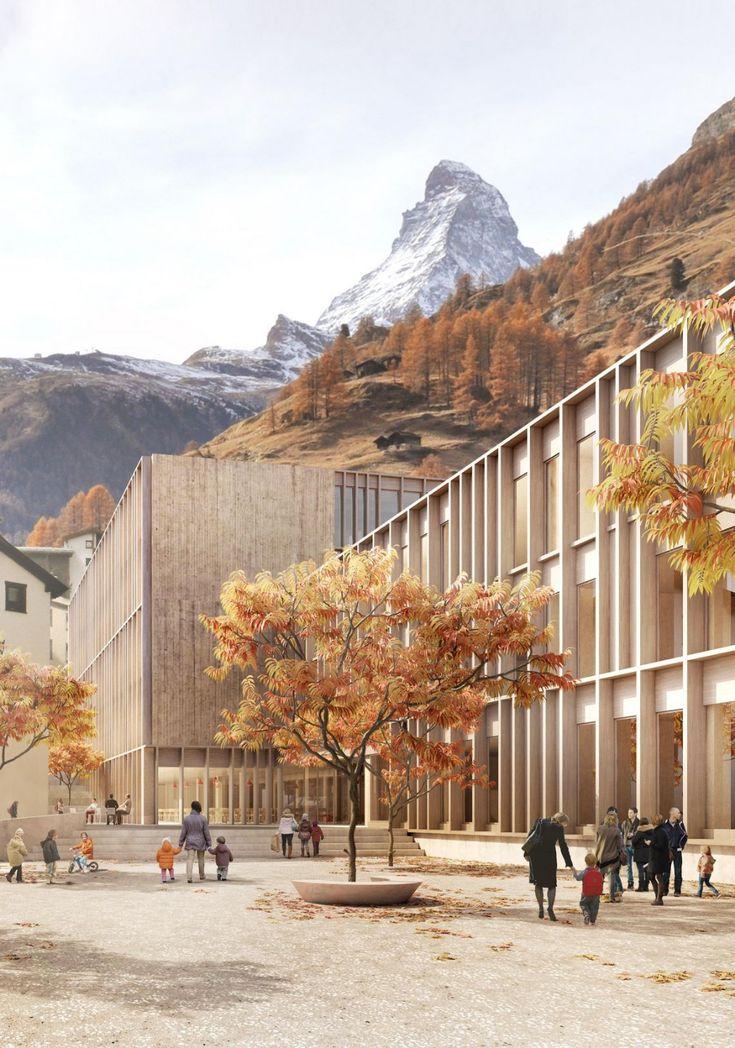 Escola Walka Zermatt / GWJ Architecture   – Gebäude