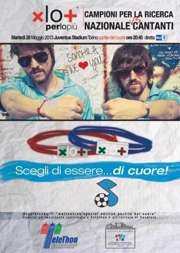 """xlo+ per Telethon, il 28 maggio """"Partita del cuore 2013"""" allo Juventus Stadium di Torino"""