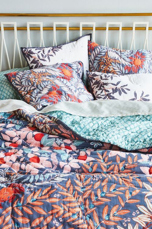 Pretty floral bedding
