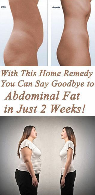 You Can Say Goodbye To The Abdominal Fat In Just 2 Weeks With This Homemade Remedy!