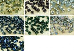 40pcs Metallic Czech Glass Small Bell Flower Bead Caps 7mm x 5mm